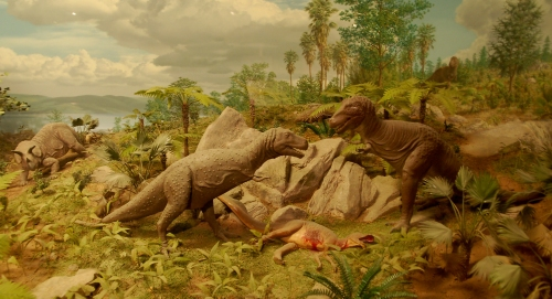 Cretaceous diorama by Norman Deaton. Source: flickr.