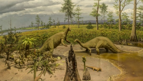 Triassic diorama