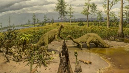 Triassic diorama