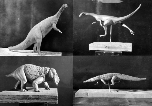 Deaton mailed these slides of his unpainted models to Hotton for approval. Photos courtesy of the Smithsonian Institution Archives.