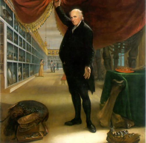 """The Artist in His Museum"" by Charles Peale, 1822."