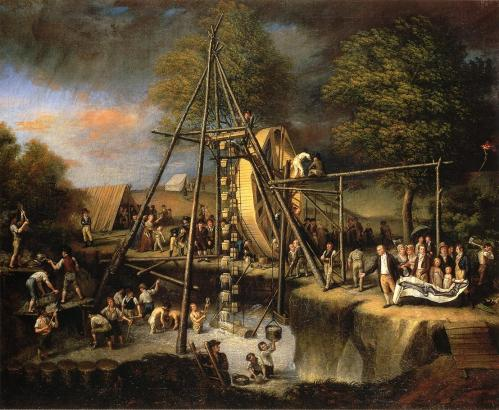 """The Exhumation of the Mastodon"" by Charles Peale, 1806."