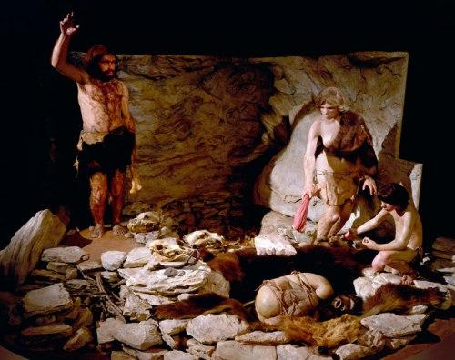 neanderthal diorama